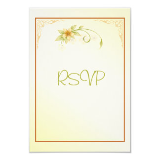 Casual Spring Floral RSVP Wedding Invitation