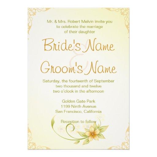 Casual Spring Floral Wedding Invitation