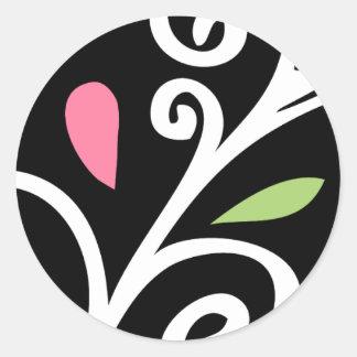Casual Swirls Round Sticker