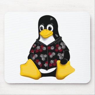 Casual Tux Hawaiian Mouse Pad