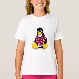 Casual Tux Purple Girls Tagless Jersey T-Shirt