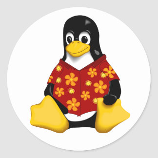 Casual Tux - Small Round Stickers