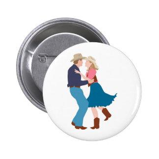 Casual Western Wedding Reception 6 Cm Round Badge