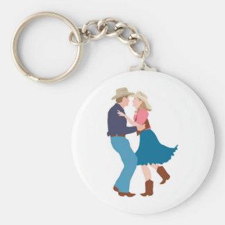 Casual Western Wedding Reception Basic Round Button Key Ring