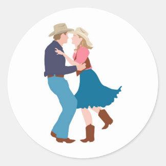 Casual Western Wedding Reception Round Sticker