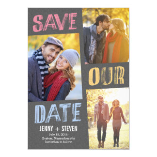 Casually Chic Save The Date Card 13 Cm X 18 Cm Invitation Card