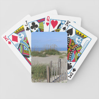 Caswell Beach, NC Land and Seascape Bicycle Playing Cards