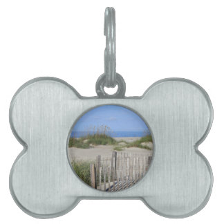 Caswell Beach, NC Land and Seascape Pet Tag