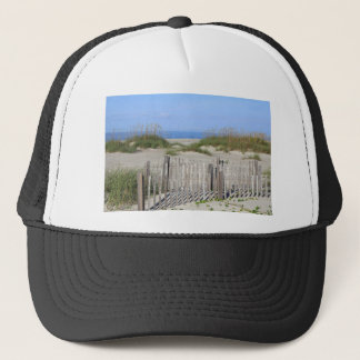 Caswell Beach, NC Land and Seascape Trucker Hat