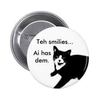 Cat2 6 Cm Round Badge