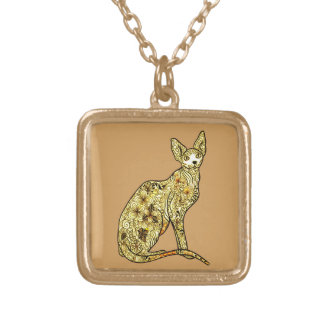 Cat 1 gold plated necklace