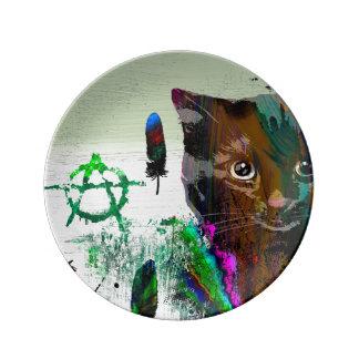 Cat №2  Decorative Porcelain Plate