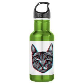 Cat 3d,3d cat,black and white cat 532 ml water bottle