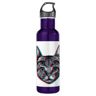 Cat 3d,3d cat,black and white cat 710 ml water bottle