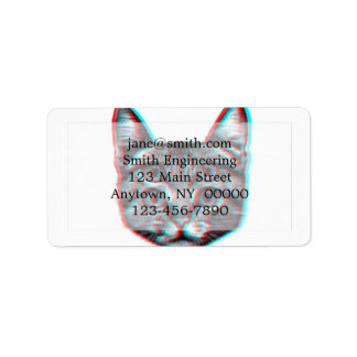 Cat 3d,3d cat,black and white cat address label