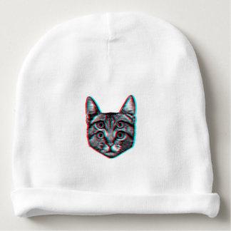 Cat 3d,3d cat,black and white cat baby beanie