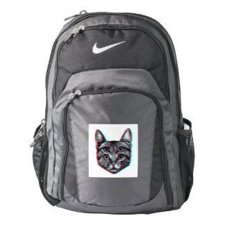 Cat 3d,3d cat,black and white cat backpack