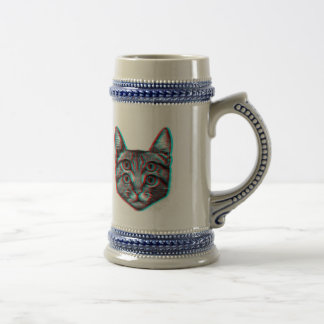 Cat 3d,3d cat,black and white cat beer stein