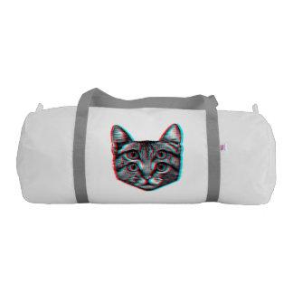 Cat 3d,3d cat,black and white cat gym duffel bag