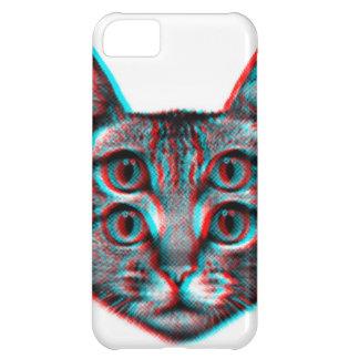 Cat 3d,3d cat,black and white cat iPhone 5C case