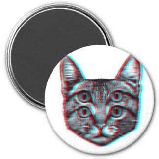 Cat 3d,3d cat,black and white cat magnet