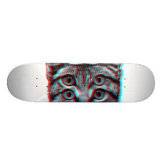 Cat 3d,3d cat,black and white cat skate board decks