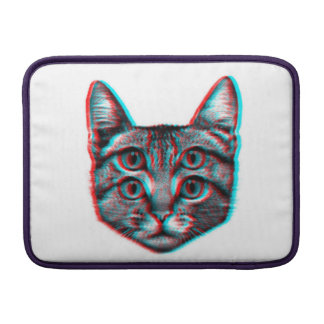 Cat 3d,3d cat,black and white cat sleeve for MacBook air
