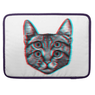Cat 3d,3d cat,black and white cat sleeve for MacBook pro