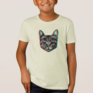 Cat 3d,3d cat,black and white cat T-Shirt