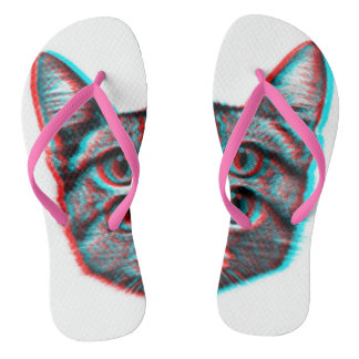 Cat 3d,3d cat,black and white cat thongs