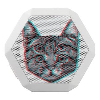 Cat 3d,3d cat,black and white cat white bluetooth speaker