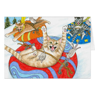 Cat 438 funny Greeting Card