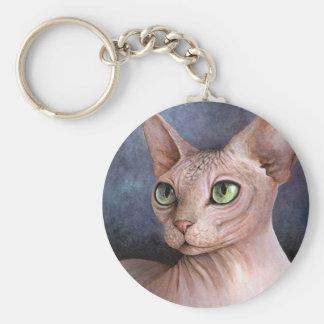 Cat 578 Sphynx Key Ring