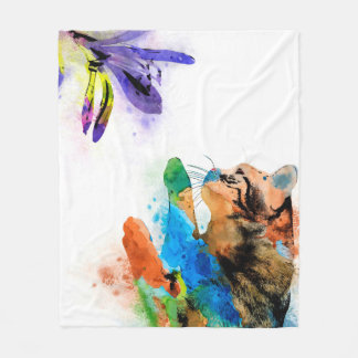 Cat 610 fleece blanket