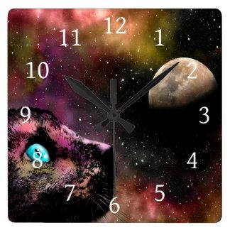 Cat 619 square wall clock