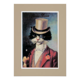 Cat About Town Poster
