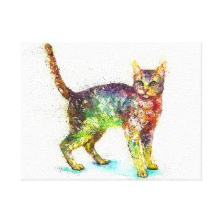 Cat abstract Fantasy Canvas Print