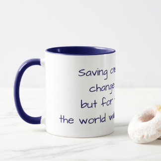 Cat Adoption Mug with a Message