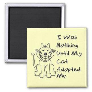 Cat Adoption Square Magnet