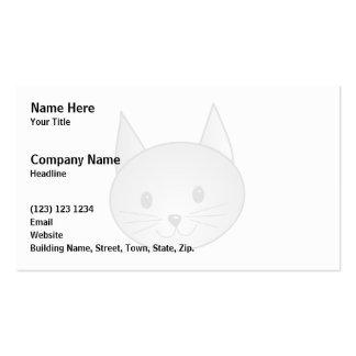 Cat. Adorable Gray Kitty Design. Pack Of Standard Business Cards