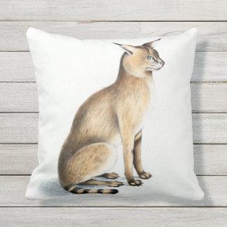 Cat Affinis Outdoor Throw Pillow