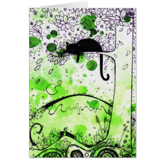 Cat Aloft - greeting card