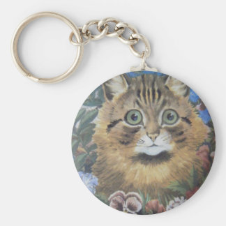 Cat Among the Flowers Louis Wain Artwork Key Ring