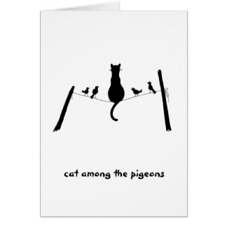 Cat among the pigeons card