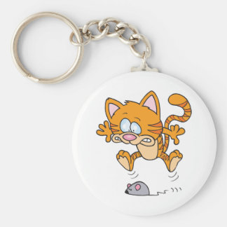 Cat And A Mouse Keychain