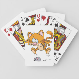 Cat And A Mouse Playing Cards