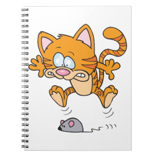 Cat And A Mouse Spiral Notebook