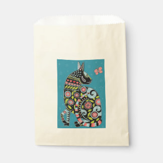 Cat And Butterfly Color Design Favour Bag
