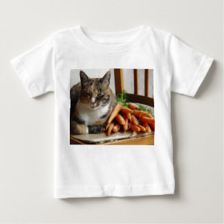 Cat and Carrots Baby T-Shirt