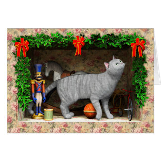Cat and Christmas stuff Card
